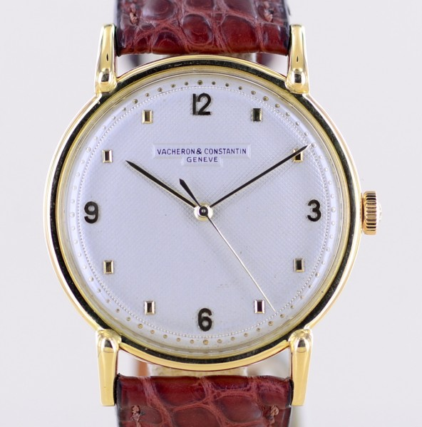 Oversize Calatrava 18K Gold Dresswatch Vintage very rar Cal. P454 5B VC Service