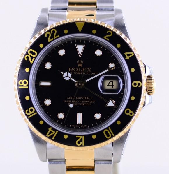 GMT Master II 16713 black Dial Oysterband U-Serie Box 1998 Top