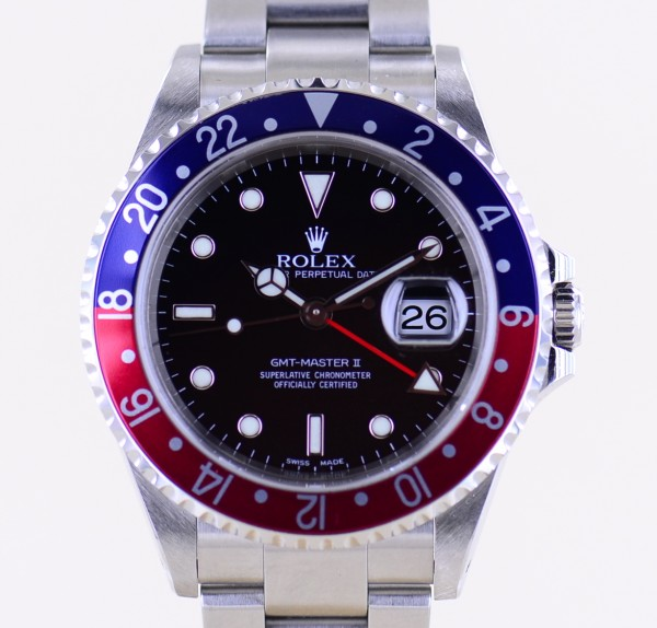 GMT Master II 16710 Pepsi Oysterband Y-Serie Papiere unpoliert SEL TOP