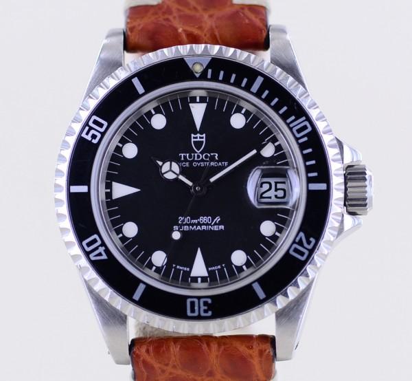 Prince Oysterdate Submariner Klassiker Tritium Lederband 79190 B+P rar