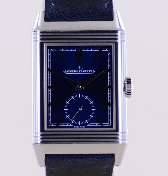 Reverso Classic Small Second Tribute blue dial B+P 2018 Wendegehäuse