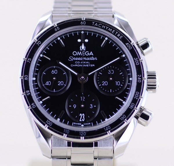 Speedmaster Co-Axial Chronograph 38mm Unisex Stahl Black Date B+P Automatic