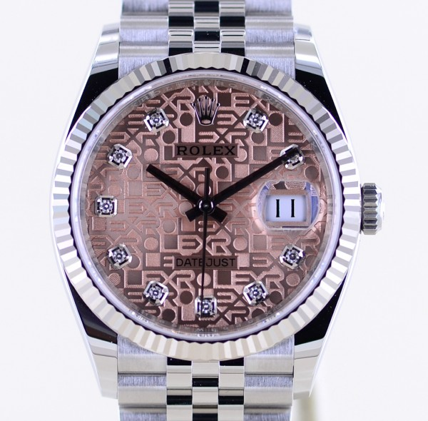 Datejust 126234 rosé Diamond dial Jubiléband Stahl Weißgold 2021 Neu Klassiker