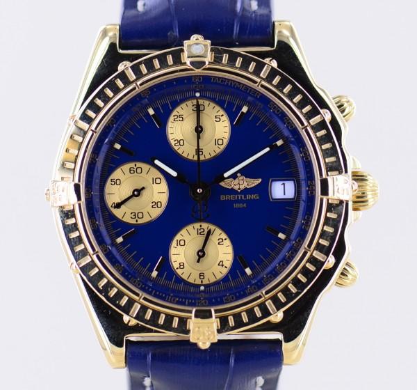 Chronomat 18K Gold blue Dial Automatic 39mm Klassiker Chronograph Luxusuhr