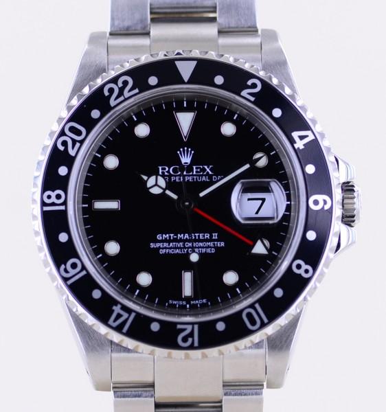 GMT Master II 16710 All Black Oysterband P-Serie Automatic Klassiker B+P
