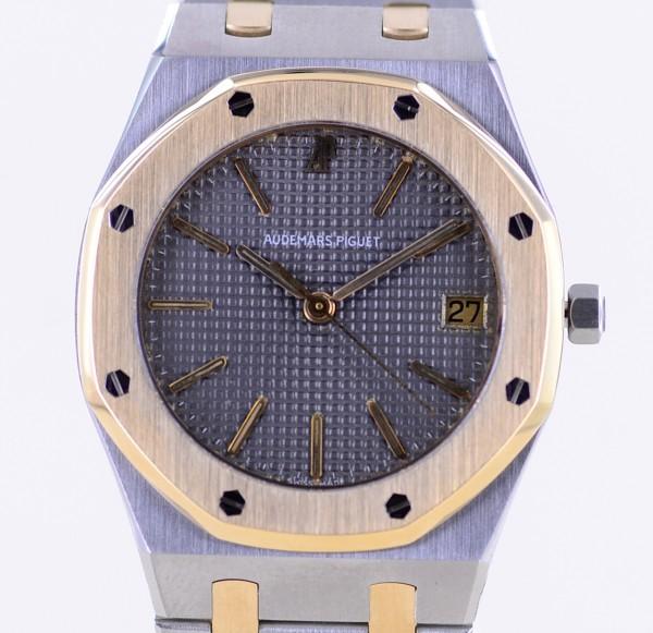 Royal Oak Stahl Gold 36mm Date Top Luxus Klassiker grey Dial Unisex rar