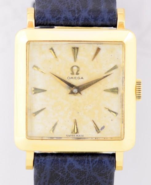 Omega 18K Square Vintage Cal. 511 Handwind Klassiker Dresswatch 60er