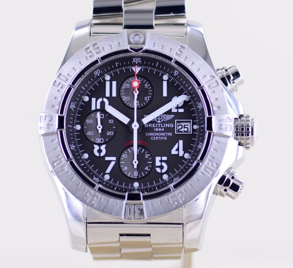 Avenger Skyland Chronograph Stahl grey Dial Automatic 45mm Diver Steel