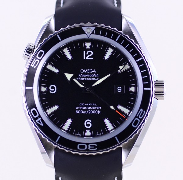Seamaster Planet Ocean Co-Axial Black 45mm Big Size B+P 600M Diver