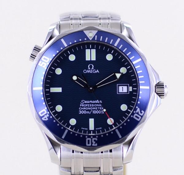 Seamaster 300m James Bond 41mm Top Blue Diver B+P rar 2003