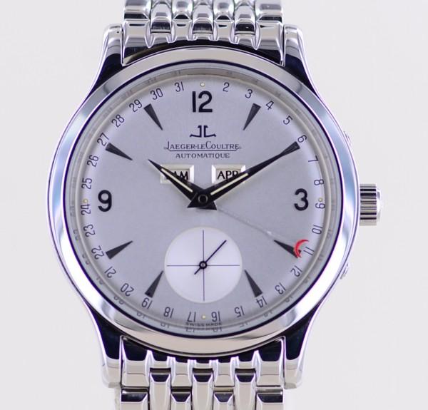 Master Control Triple Date Calendar Klassiker 37 mm Dresswatch Stahlband B+P