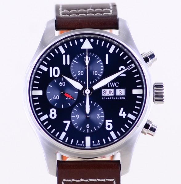 IWC Fliegerchronograph Pilot's Black 43mm Klassiker B+P Top