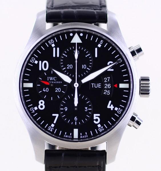 Fliegerchronograph Pilot's Black 43mm Black Dial Klassiker Automatik B+P