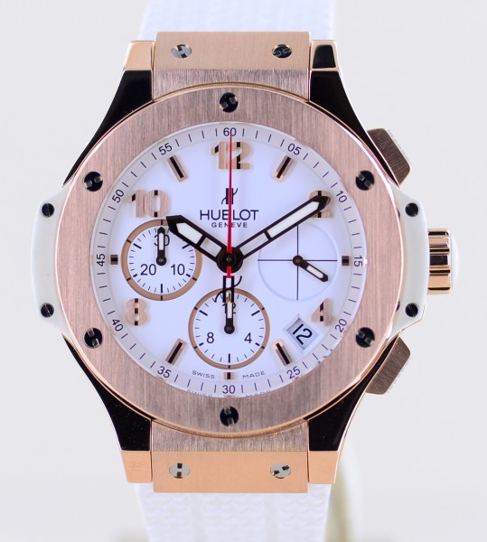 Big Bang Chronograph 41mm 18K Roségold white Dial Luxury Papers