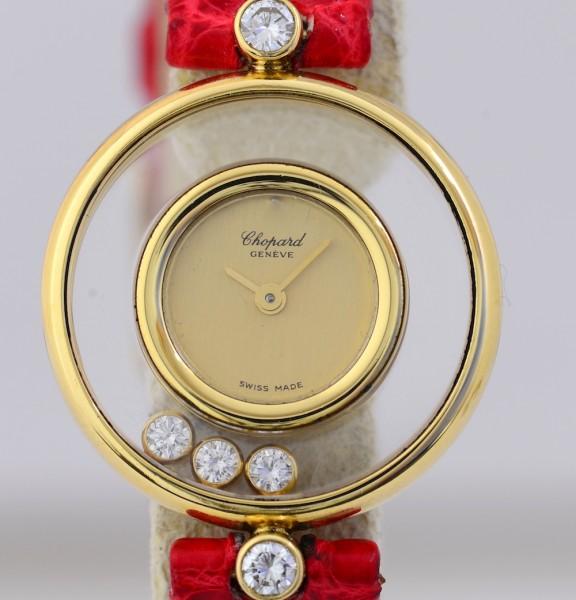Chopard Happy Diamonds Klassiker 18K Gold Lady Quarz Luxus Top