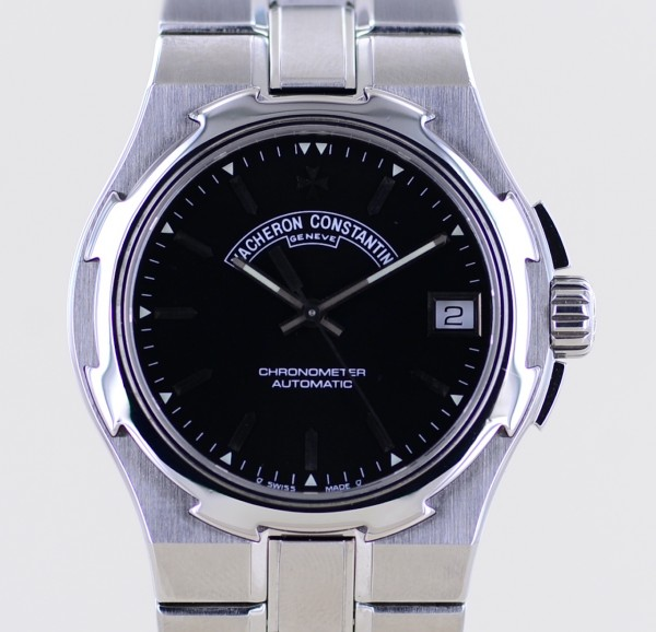 Overseas black dial Steel Automatic Chronometer Klassiker 37mm Cal 1311 Unisex rar