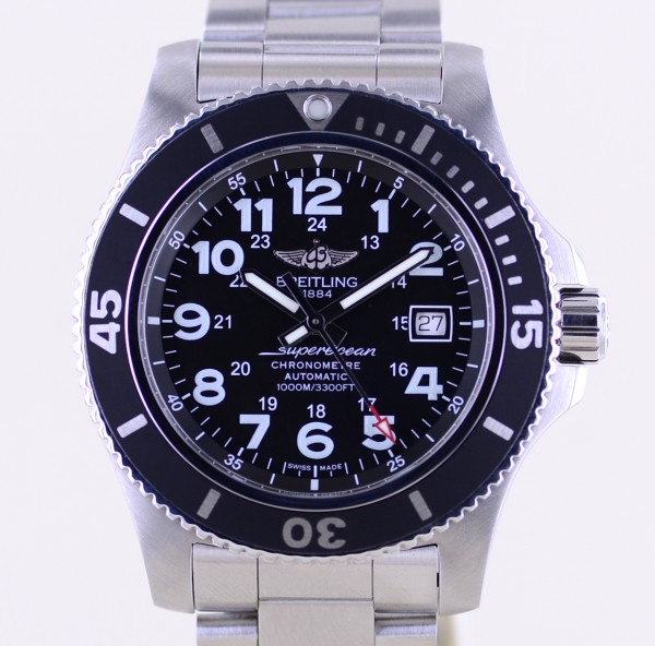 Superocean II Automatic Stahl black Diver 44mm B+P Stahlband Sportler
