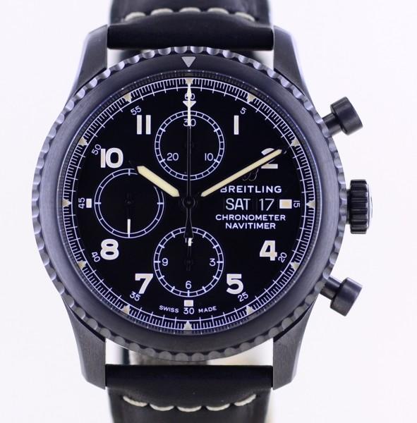 Navitimer 8 Blacktseel Chronograph Day & Date Stahl 43mm black dial 2020 B+P