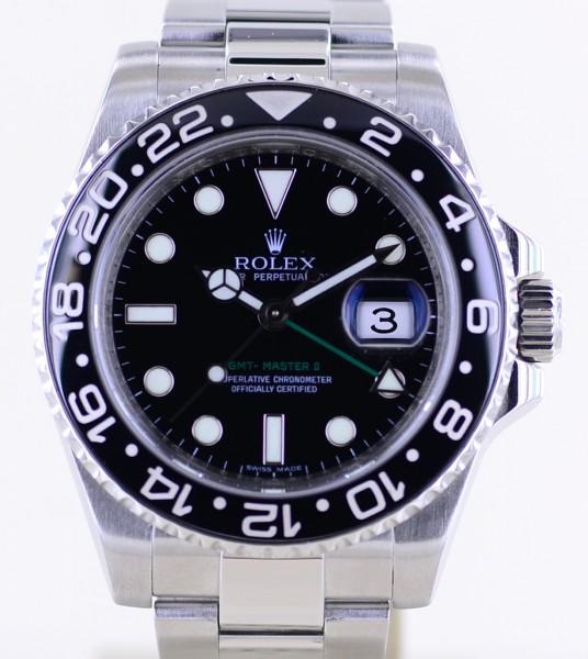 GMT Master II 116710LN Oysterband Keramik Stahl Top 2009 B+P